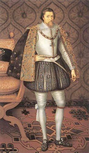 Jacques Ier, premier roi de la dynastie Stuart, par Paul Van Somer