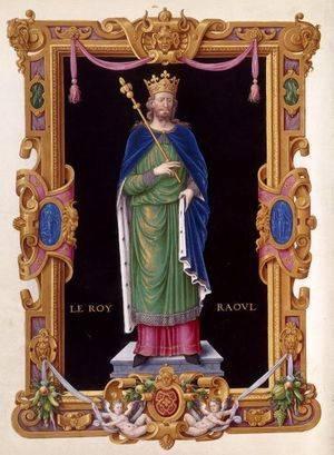 Raoul Ier, dernier roi Robertien (manuscrit « le Recueil des rois de France », XVe siècle)