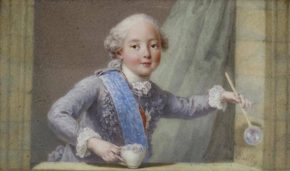portrait posthume du duc d'Anjou sur tabatière ( attribué à Nattier)