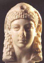 Buste de Bérénice IV, sœur, fille ou belle-fille de Cléopâtre VI