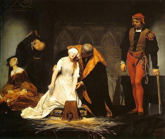 L'exécution de Jane Grey par Paul Delaroche, en 1833