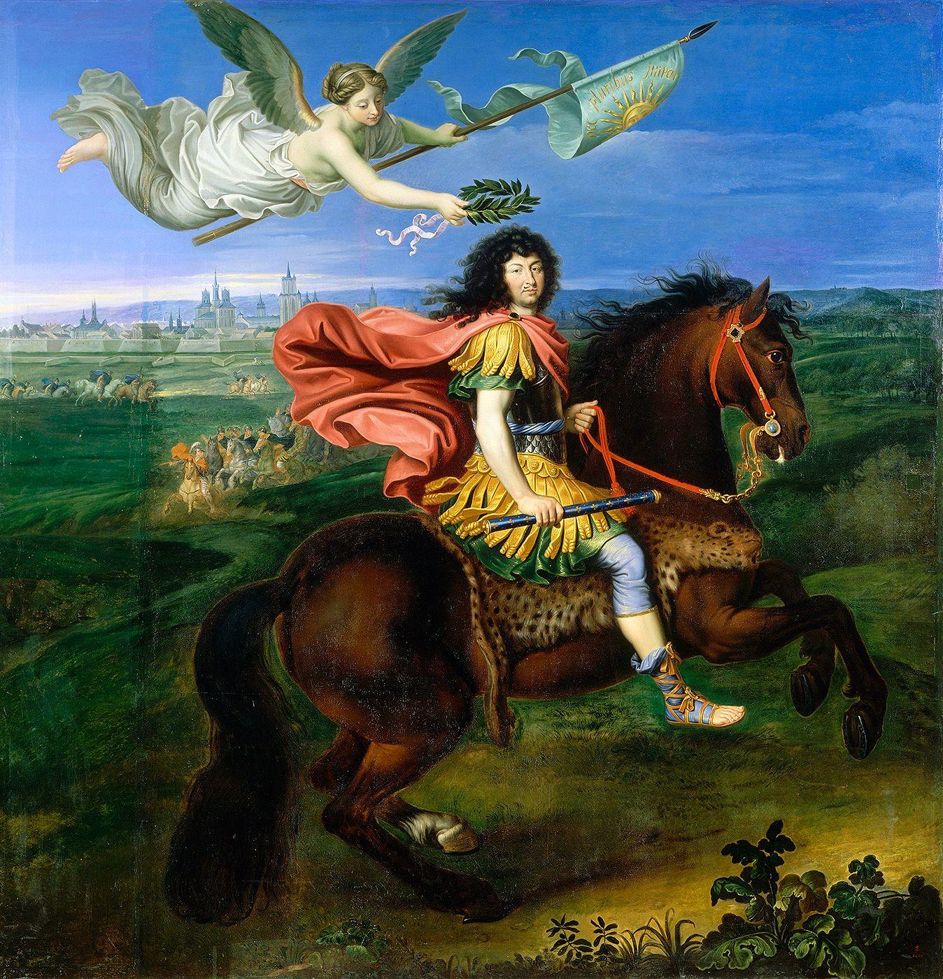 Portraits équestres de Louis XIV, par Pierre Mignard