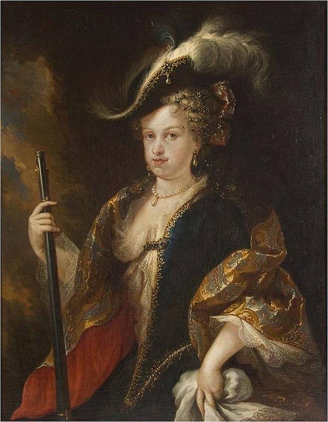 Marie-Louise en tenue de chasse, par Miguel Jacinto Melendez (vers 1712)